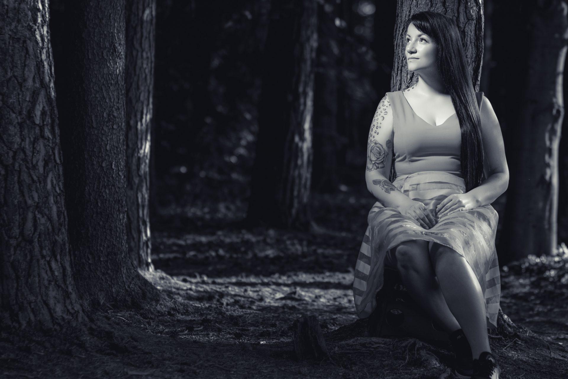 People-Fotografie im Wald