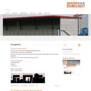 Webseite für Architekten