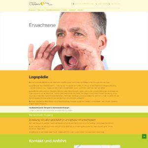 Webseite für Logopädie