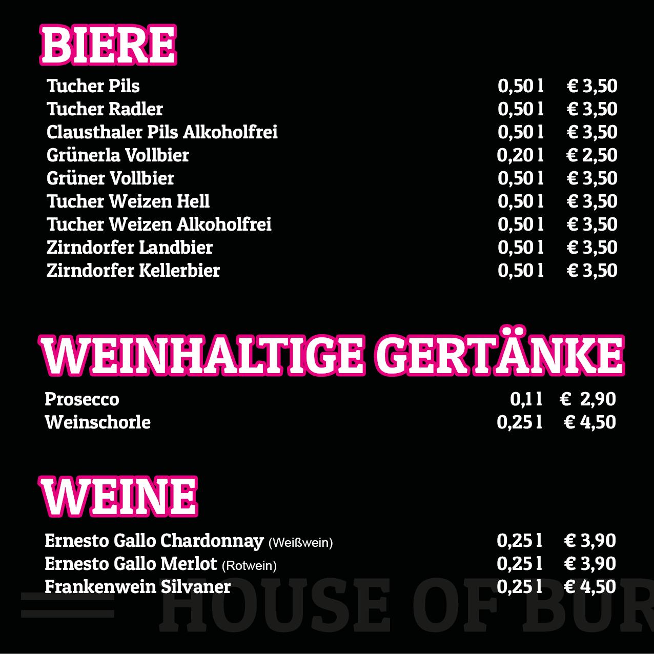 Mehrseitige Speisekarte für Burger-Restaurant