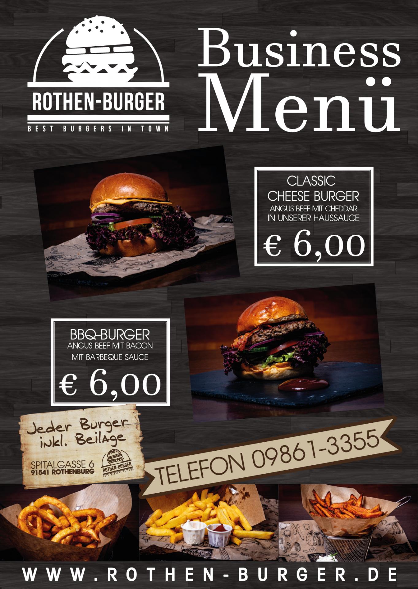Plakat für Burger-Restaurant