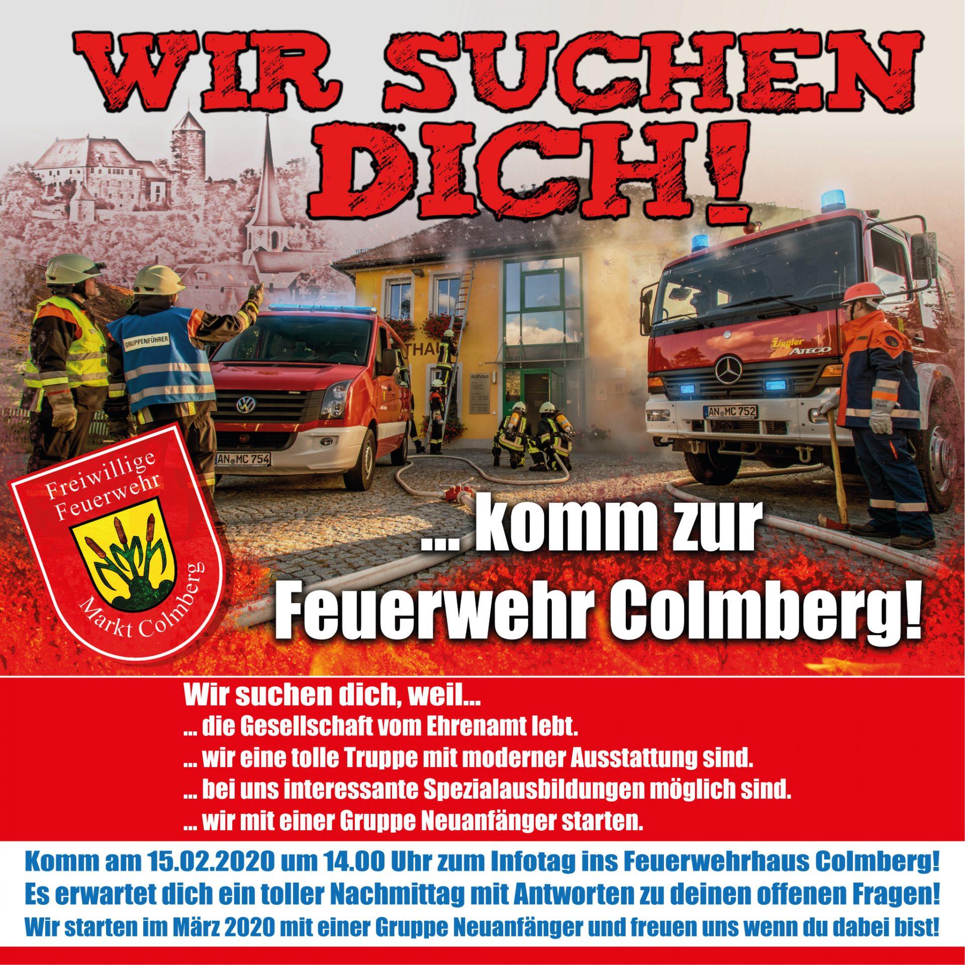 Plakat für Feuerwehrwerbung