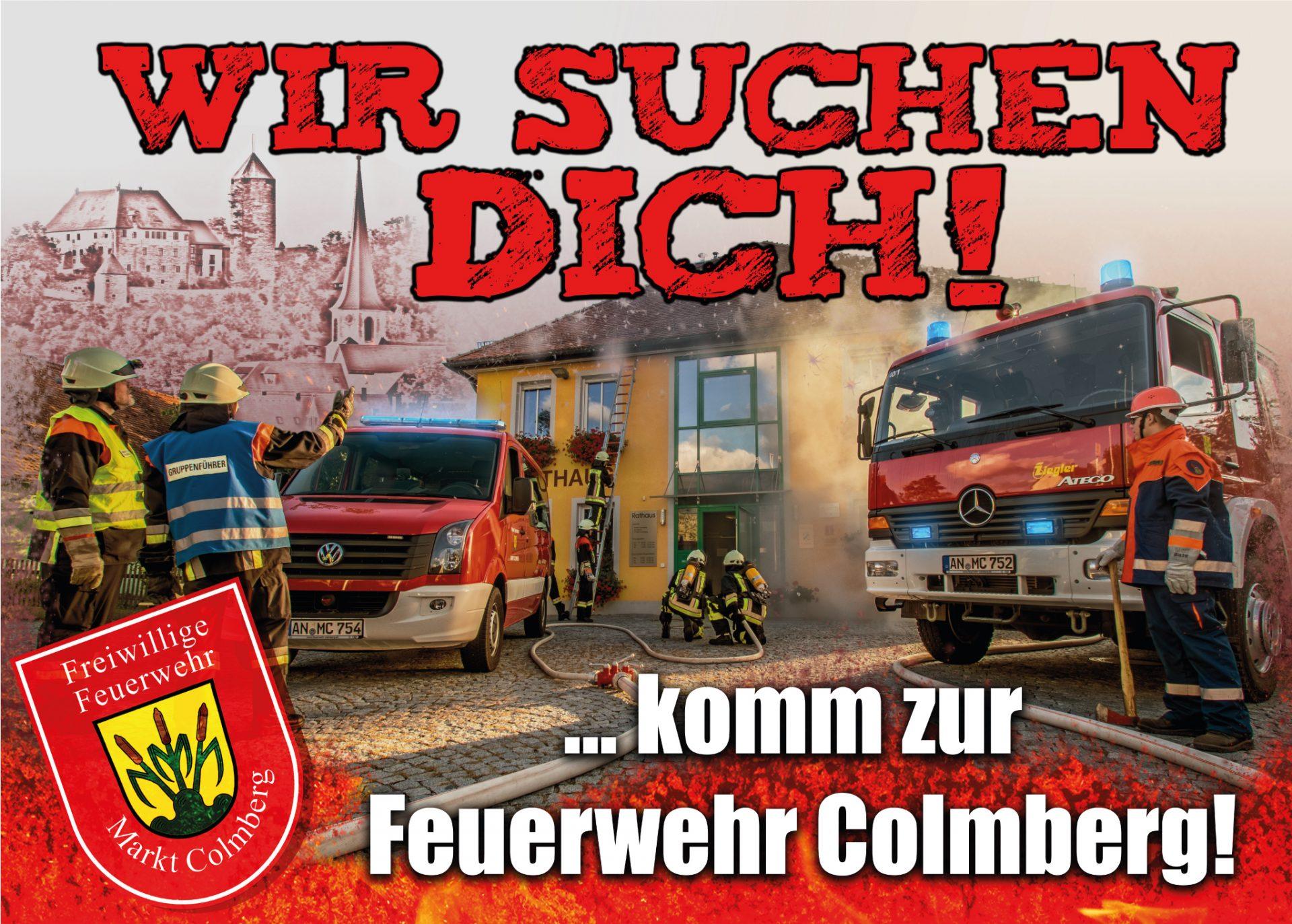 Werbeplane für Feuerwehr